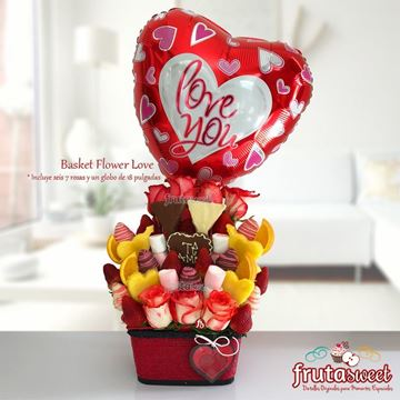 Picture of BASKET FLOWER LOVE