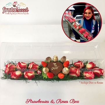 Picture of STRAWBERRIES & ROSES BOX